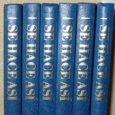 Libros de segunda mano: SE HACE ASÍ - MANUALIDADES / LABORES DEL HOGAR - PLANETA AGOSTINI 1990 - 1680 PÁGINAS - VER INDICE. Lote 65791550