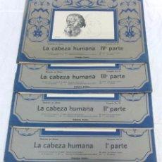 Libros de segunda mano: MODELOS DE DIBUJO. LA CABEZA HUMANA. COLECCION COMPLETA EN 4 PARTES O CARPETAS. VER. Lote 66109194