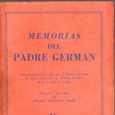 Livres d'occasion: MEMORIAS DEL PADRE GERMÁN (KIER, 1959) ESPIRITISMO. Lote 66239922