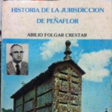 Libros de segunda mano: ABILIO FOLGAR CRESTAR. HISTORIA DE LA JURISDICCIÓN DE PEÑAFLOR. 1979. Lote 66473878