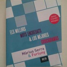 Libros de segunda mano: ELS MILLORS MOTS ENCREUATS & LOS MEJORES CRUCIGRAMAS - MÀRIUS SERRA & FORTUNY - LA VANGUARDIA. Lote 66901190