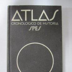 Libros de segunda mano: ATLAS CRONOLÓGICO DE HISTORIA. SPES. PRIMERA EDICION. 1980. BIBLOGRAF, S.A. 303 PAGS. 20,2X13 CM. Lote 67112469