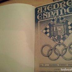 Libros de segunda mano: AJEDREZ ESPAÑOL 1944-1950 REVISTAS ENCUADERNADAS 7 TOMOS PE. Lote 67238901