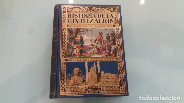 LIBRO HISTORIA DE LA CIVILIZACIÓN . EDGAR SANDERSON . 2ª EDIC. EDIT. RAMON SOPENA. 1935 (Libros de Segunda Mano - Historia - Otros)