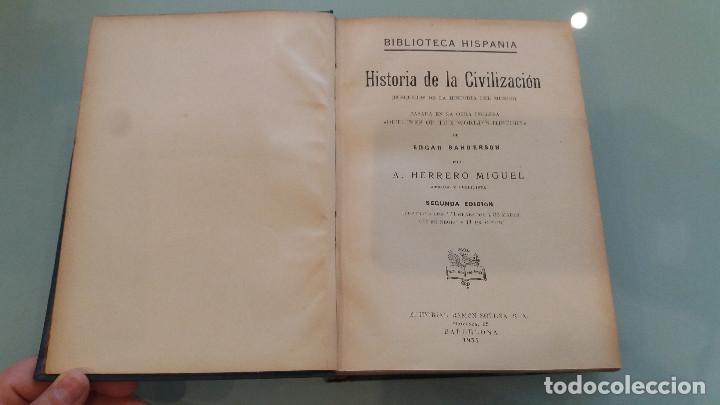 Libros de segunda mano: LIBRO HISTORIA DE LA CIVILIZACIÓN . EDGAR SANDERSON . 2ª EDIC. EDIT. RAMON SOPENA. 1935 - Foto 2 - 67473885