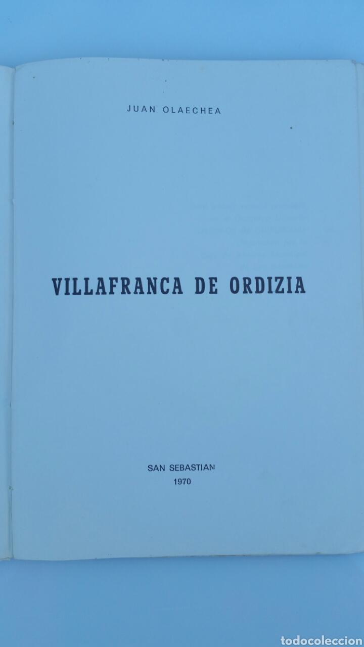 Libros de segunda mano: VILLAFRANCA DE ORDIZIA. JUAN OLAECHEA. SAN SEBASTIÁN 1970. CAJA AHORROS MUNICIPAL SAN SEBASTIÁN - Foto 2 - 67502778