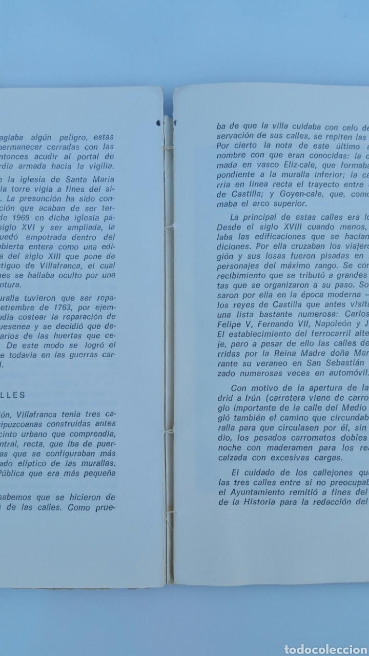 Libros de segunda mano: VILLAFRANCA DE ORDIZIA. JUAN OLAECHEA. SAN SEBASTIÁN 1970. CAJA AHORROS MUNICIPAL SAN SEBASTIÁN - Foto 3 - 67502778