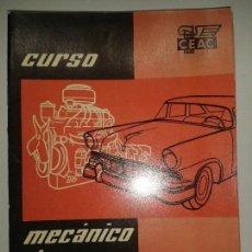 Libros de segunda mano: CURSO MECÁNICO DE AUTOMÓVILES 5 ENGRASE DEL MOTOR 1958 CEAC. Lote 67698641
