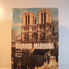 Libros de segunda mano: OBRAS COMPLETAS TOMO VIII. TEATRO. POESÍA. PROSA. MARQUINA, EDUARDO. AGUILAR 1951. Lote 67903973