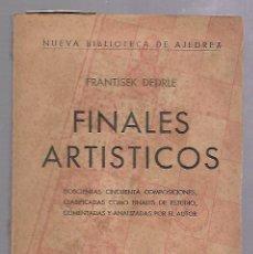 Libros de segunda mano: FINALES ARTISTICOS. FRANTISEK DEDRLE. EDITORIAL SOPENA ARGENTINA. 2º EDICION. 1952. RUSTICA. 120 PAG. Lote 67922377