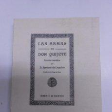 Libros de segunda mano: LAS ARMAS DE DON QUIJOTE. APUNTES REUNIDOS POR ENRIQUE DE LEGUINA FACSIMIL DE LA DE 1908.9X11 CMS. Lote 67934521