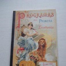 Libros de segunda mano: PROGRAMAS DE PRIMERA ENSEÑANZA - 100 AÑOS DE ENSEÑANZA EN ARAGÓN - GOBIERNO DE ARAGÓN (1994). Lote 68100961