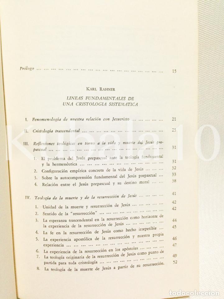 Libros de segunda mano: CRISTOLOGIA · ESTUDIO TEOLOGICO Y EXEGETICO ·· KARL RAHNER · WILHELM THUSING · ED. CRISTIANDAD - Foto 3 - 68138565