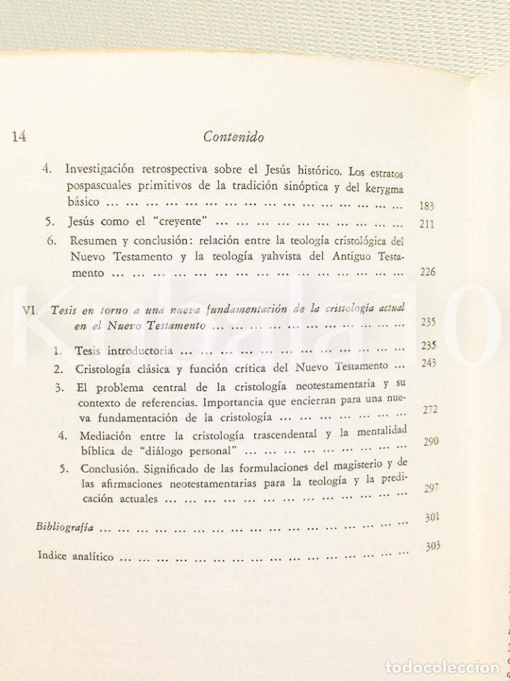 Libros de segunda mano: CRISTOLOGIA · ESTUDIO TEOLOGICO Y EXEGETICO ·· KARL RAHNER · WILHELM THUSING · ED. CRISTIANDAD - Foto 6 - 68138565