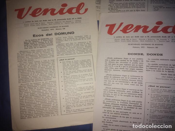 Libros de segunda mano: Venid. Publicación religiosa de la Iglesia. Semana Santa - Foto 3 - 68185183