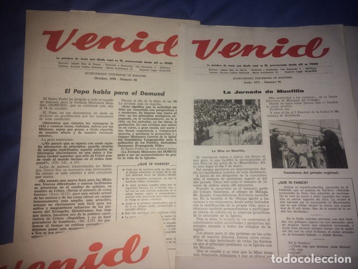 Libros de segunda mano: Venid. Publicación religiosa de la Iglesia. Semana Santa - Foto 5 - 68185183