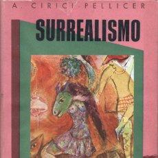 Libros de segunda mano: CIRICI PELLICER : SURREALISMO (OMEGA, 1949). Lote 68234369