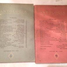 Libros de segunda mano: ANTIGUO 2 LIBRO ANTOLOGIA DELS FETS LES IDEES I ELS HOMES D'OCCIDENT AÑO 1947-1948. Lote 68344657