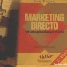 Libros de segunda mano: MARKETING DIRECTO - BOB STONE. Lote 68428637