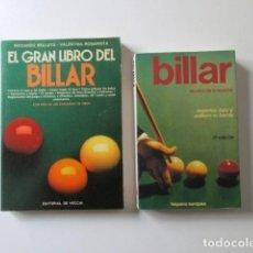 Libros de segunda mano: EL GRAN LIBRO DEL BILLAR ( (RICARDO BELLUTA) EL PRECIO INCLUYE LOS GASTOS DE ENVÍO. Lote 68989697