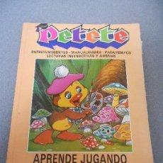 Libros de segunda mano: PETETE. APRENDE JUGANDO. Lote 69283949
