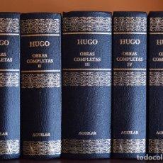 Libros de segunda mano: OBRAS COMPLETAS (COMPLETA EN 5 TOMOS) - HUGO, VÍCTOR - BIBLIOTECA AGUILAR. Lote 77254766
