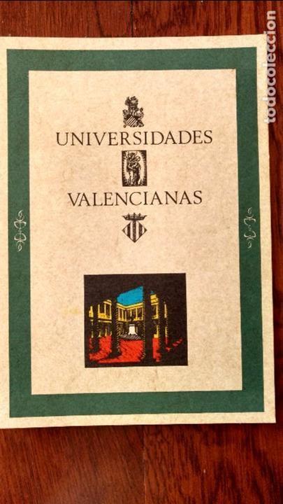 UNIVERSIDADES VALENCIANAS. VV. AA. CONGRESO. (Libros de Segunda Mano - Historia - Otros)