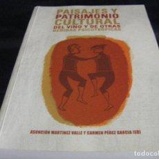 Libros de segunda mano: PAISAJE Y PATRIMONIO CULTURAL DEL VINO Y OTRAS BEBIDAS PSICOTROPICAS AÑO 2011 ESPAÑA EUROPA AMÉRICA . Lote 69491401