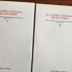 Libros de segunda mano: EL FUERO GEN. DE NAVARRA. EST. Y ED. DE LAS REDACCIONES PROTOSISTEMÁTICAS (SERIES A Y B) J. UTRILLA. Lote 69505377