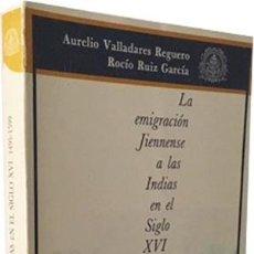 Libros de segunda mano: LA EMIGRACIÓN JIENNENSE A LAS INDIAS EN EL S. XVI. (JAÉN Y AMÉRICA; EMIGRANTES; LUGARES DE DESTINO; . Lote 69893161