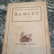 Libros de segunda mano: WILLIAM SHAKESPEARE HAMLET CUARTA EDICION. Lote 69975077