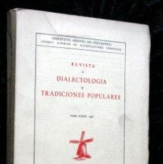 Libros de segunda mano: REVISTA DE DIALECTOLOGIA Y TRADICIONES POPULARES - TOMO XXXIV (1978) - INSTRUMENTOS - FOLFLORE. Lote 69981209