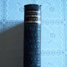 Libros de segunda mano: LOS CLÁSICOS DEL SIGLO XX. ANDRÉ MAUROIS. OBRAS COMPLETAS. MEMORIAS Y ENSAYOS. JANES EDITOR, 1952... Lote 69994105