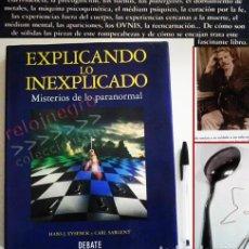 Libros de segunda mano: EXPLICANDO LO INEXPLICABLE MISTERIOS DE LO PARANORMAL - LIBRO PES PERCEPCIÓN EXTRASENSORIAL MISTERIO. Lote 70156421