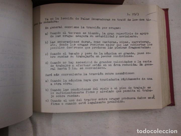 Libros de segunda mano: APUNTES DE MAQUINARIA AUXILIAR DE OBRAS - JOSÉ JUAN ARACIL SEGURA. ESC INGENIEROS CAMINO 1959/60 + - Foto 4 - 70284821