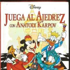 Libros de segunda mano: LIBRO TAPAS DURAS JUEGA AL AJEDREZ CON ANATOLY KARPOV. EVEREST. Lote 70514597