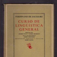 Libros de segunda mano: (LINGÜÍSTICA) FERDINAND DE SAUSSURE: CURSO DE LINGÜÍSTICA GENERAL BUENOS AIRES, LOSADA, 1967. Lote 71112593