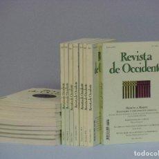 Libros de segunda mano: REVISTA DE OCCIDENTE -LOTE 18 NUMEROS-. Lote 71141877