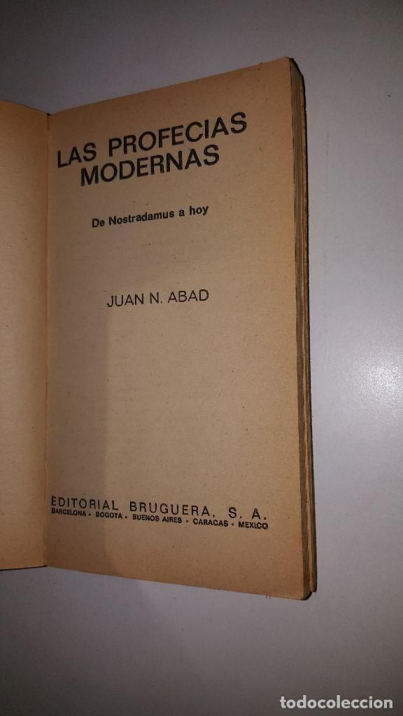 Libros de segunda mano: LAS PROFECIAS MODERNAS -1975 - JUAN ABAD - 2º ED - Foto 2 - 71629811