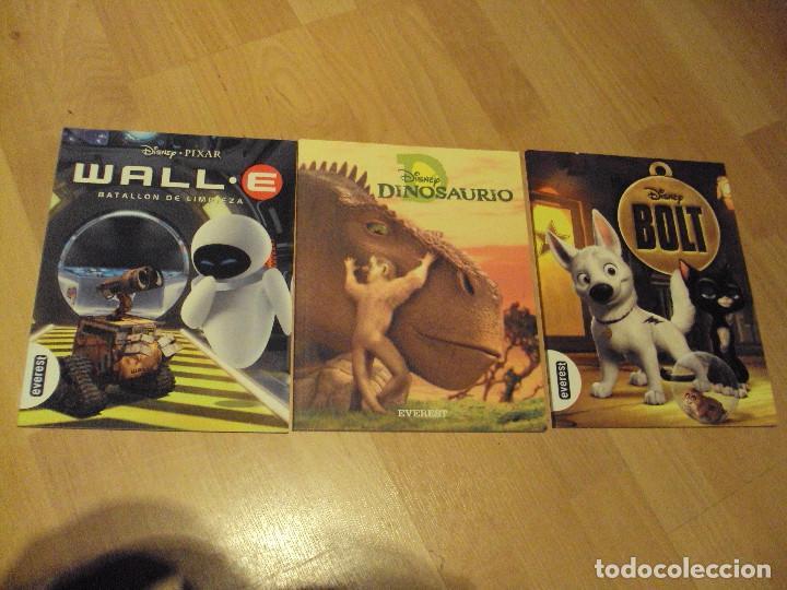 LOTE DE TRES LIBROS EDITORIAL EVEREST DE DISNEY:BOLT,WALL Y DINOSAURIO (Libros de Segunda Mano - Literatura Infantil y Juvenil - Otros)