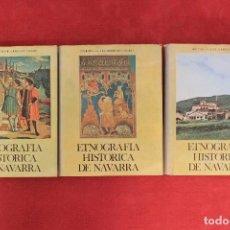 Libros de segunda mano: ETNOGRAFÍA HISTÓRICA DE NAVARRA. JULIO CARO BAROJA. BIBLIOTECA CAJA DE AHORROS DE NAVARRA. 3 TOMOS. Lote 71719983