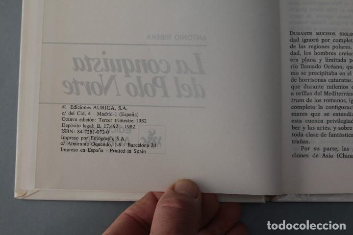 Libros de segunda mano: LA CONQUISTA DEL POLO NORTE - ANTONIO RIBERA- NUEVO AURIGA - Foto 2 - 71746047
