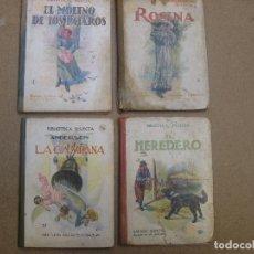 Libros de segunda mano: LIBROS JUVENILES CUENTOS - BIBLIOTECA SELECTA RAMON SOPENA 4 LIBROS VER ESTADO EN FOTOS. Lote 72133935