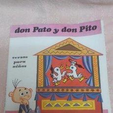 Libros de segunda mano: GLORIA FUERTES. DON PATO Y DON PITO. VERSOS PARA NIÑOS. EDITORIAL ESCUELA ESPAÑOLA.1980. Lote 72399075