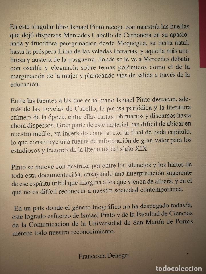 Libros de segunda mano: Perdon Y SIN OLVIDOMERCEDES CABELLO DE CARBONERA Y SU MUNDO - Foto 2 - 72894523