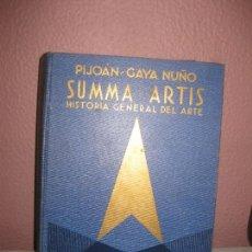 Libros de segunda mano: SUMMA ARTIS, ARTE EURPEO DE LOS SIGLOS XIX Y XX. JOSE PIJOAN - J. GAYA NUÑO. ESPASA CALPE VOL XXIII. Lote 73014423