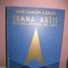 Libros de segunda mano: SUMMA ARTIS. HISTORIA GENERAL DEL ARTE. (VOL XXII). PINTURA MEDIEVAL ESPAÑOLA. JOSE CAMON AZNAR.. Lote 73014707