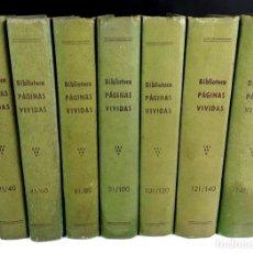 Libros de segunda mano: 8313 - PÁGINAS VIVIDAS. 7 TOMOS. (VER DESCRIP). JOSÉ Mª FOLCH Y TORRES. EDIT. MIVA. AÑOS 40.. Lote 73184535