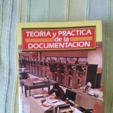 Libros de segunda mano: TEORIA Y PRACTICA DE LA DOCUMENTACION. ROBERTO COLL-VINENT. EDITORIAL MITRE. Lote 73451075