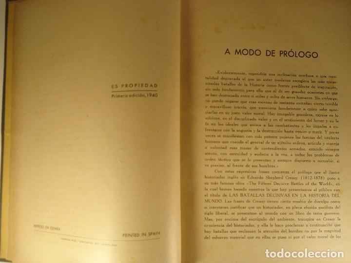 Libros de segunda mano: LIBRO LAS BATALLAS DECISIVAS EN LA HISTORIA DEL MUNDO EDUARDO S. CREASY 1940 BATALLAS GUERRAS - Foto 5 - 73482123